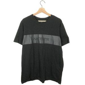 Arc'Teryx chest spellout logo tshirt gray